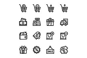 Shopping, Sale Icons Pack 1