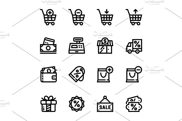 Shopping, Sale Icons Pack 1 in Icons