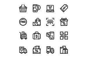 Shopping, Sale Icons Pack 2