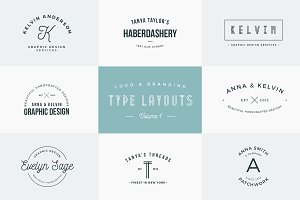 Logo & Branding Type Layouts Bundle