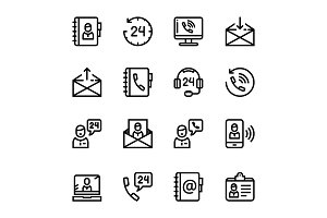 Contact Us, Feedback Icons Pack 1