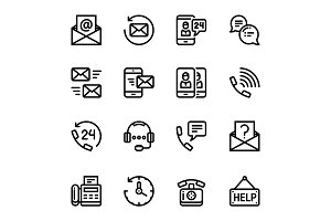 Contact Us, Feedback Icons Pack 2