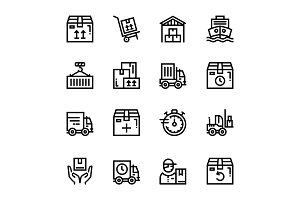 Delivery, Shipment Icons Pack 1