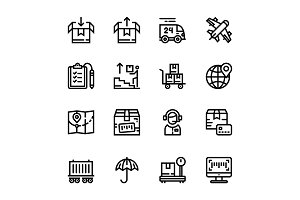 Delivery, Shipment Icons Pack 2