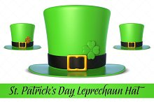 St. Patrick's Day Leprechaun Hat 3D