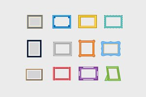 12 Picture Frame Icons