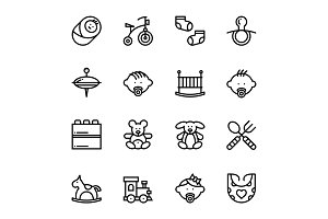 Baby, Care, Toys Icons Pack 2
