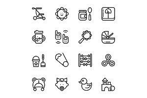 Baby, Care, Toys Icons Pack 3