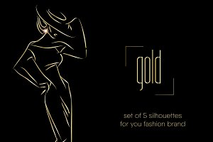 Fashion silhouettes for logo & brand