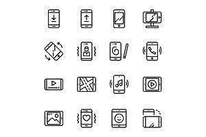 Device, Smartphone Icons Pack 1