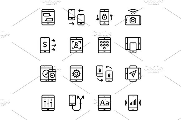 Device Smartphone Icons Pack 2