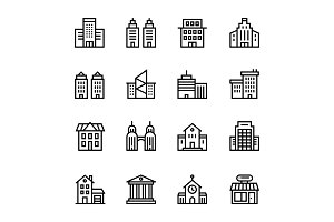 Building, House Icons Pack 1