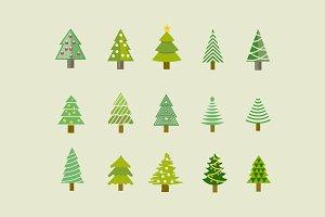 15 Christmas Tree Icons