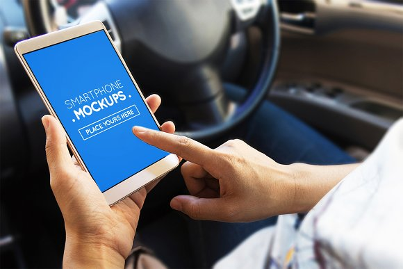 Smartphone In Car Mockups #1