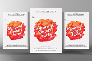 Minimal-Event Flyer Artwork Template