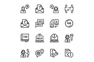 Support, Service, Help Icons Pack 2