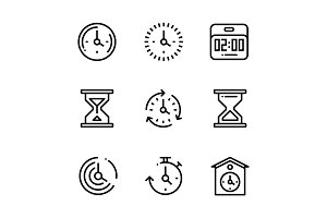 Set of Time, Clock, Watch Pack 2
