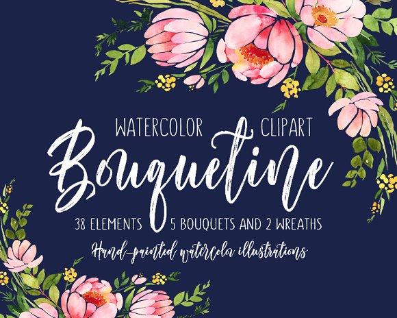 Bouquetine Floral Clipart