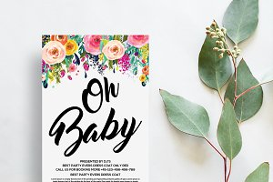 Oh Baby Shower invites