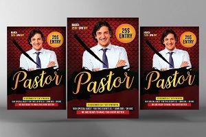 Pastor Appreciation Flyer Template