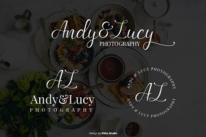 Andy & Lucy Premade Logo