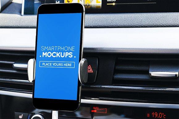 Smartphone In Car Mockup #8