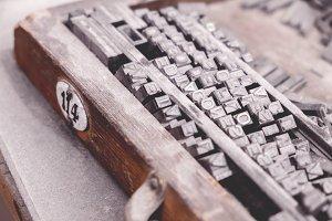 Typography. Vintage