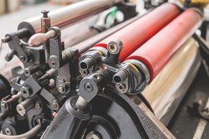 Old Printing press. Vintage