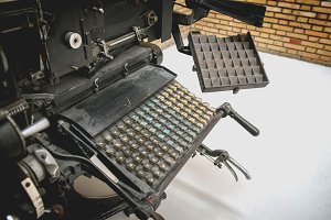 Linotype machine. Vintage