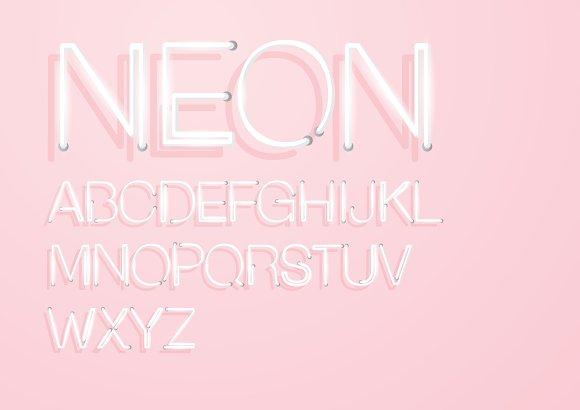 Neon Typography Design Vector