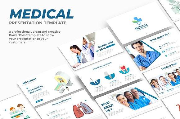 medical powerpoint template presentation templates creative market