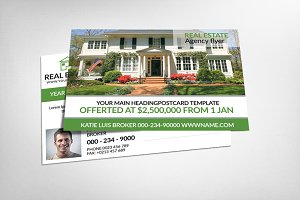 Real Estate Business Postcard
