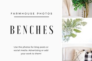 Farmhouse Chairs & Benches