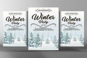 Winter Festival Flyer  Poster