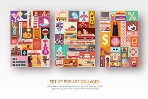 Set of Pop Art vector designs