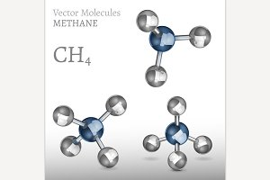 Methane Molecules Set