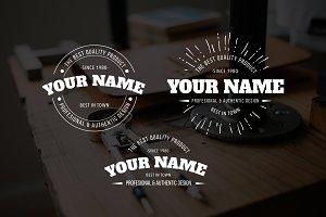 Badge Your Name Premade Logo