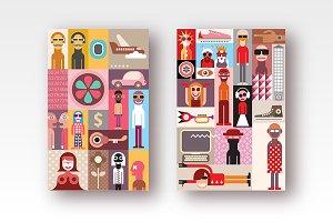 Three Pop-Art Designs vector artwork