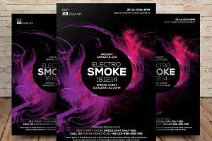 Color Smoke Flyer Poster