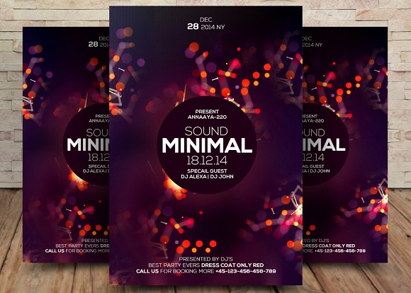 Dream Sounds Minimal Flyer Template