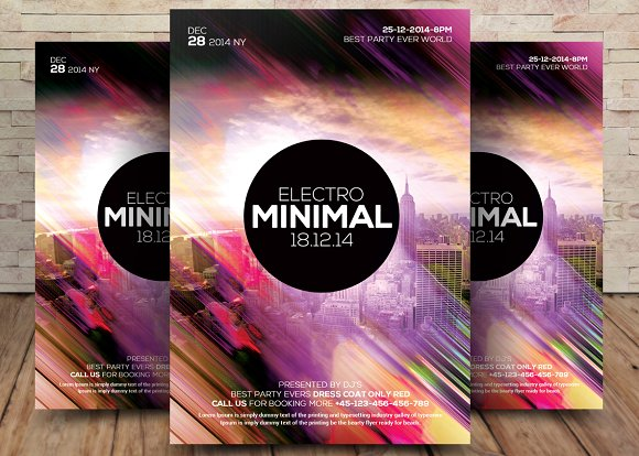 Electro Minimal Flyer Poster