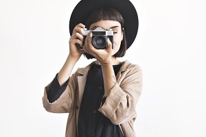Photographer in hat