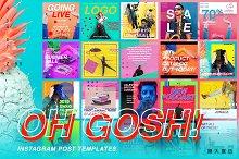 OH GOSH! - Instagram Post Templates