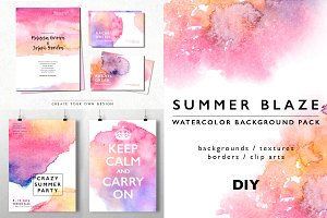 Watercolor Background Texture Pack