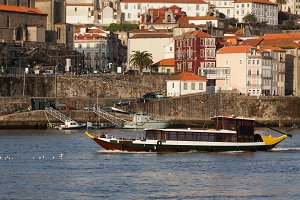 Porto Old Town From Douro River