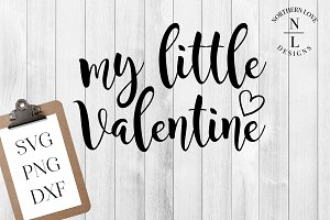 My Little Valentine SVG PNG DXF