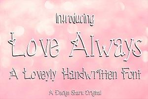 Love Always Handwritten Font