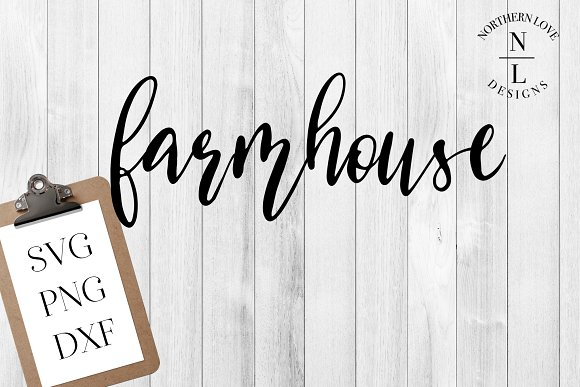 Farmhouse SVG PNG DXF