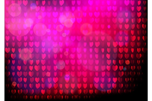 Neon Heart Background Disco Party Purple Pink Pattern Valentines Day Concept