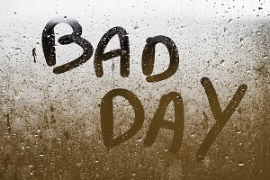"""Text """"BAD DAY"""""""